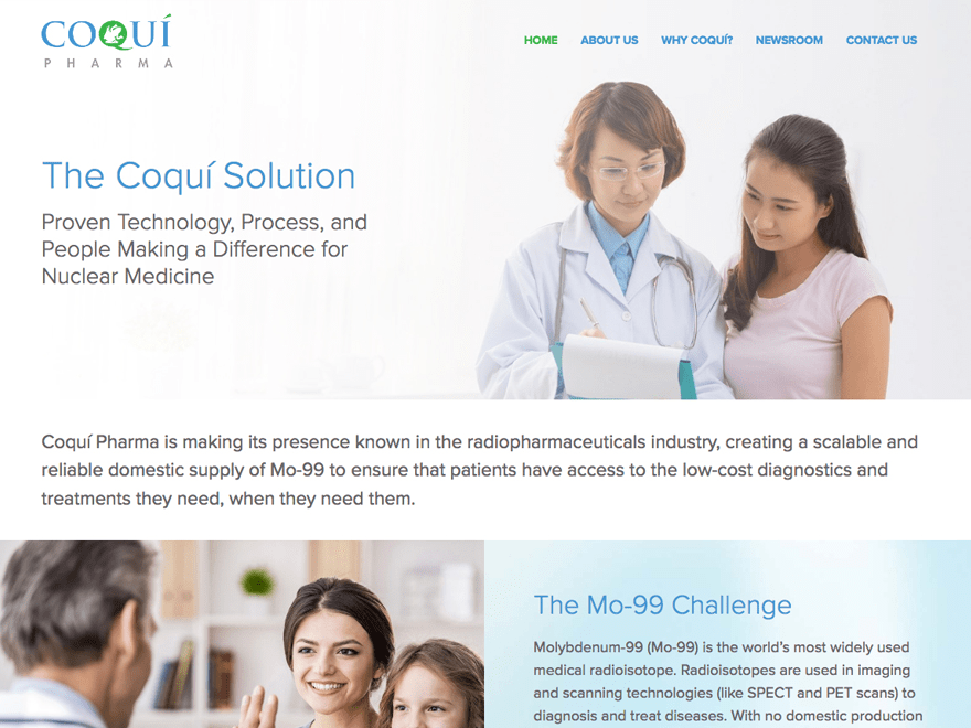Coqui Radiopharmaceuticals Corp Dr James Welsh